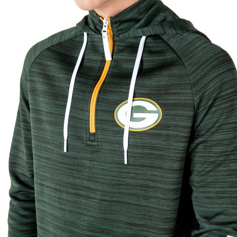 New Era Zip-Hoodie Engineered Raglan Green Bay Packers dunkelgrün