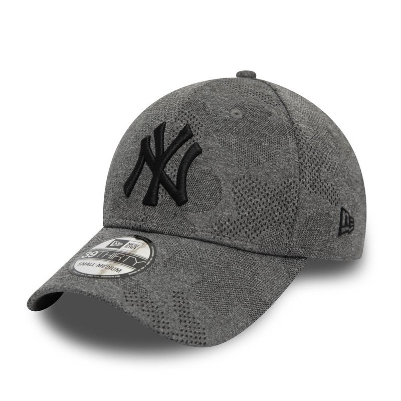 NY Yankees Heather grau New Era 39Thirty Flexfit Cap
