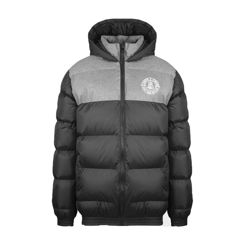Unfair Athletics Herren Puffer Jacke DMWU black/heather grey