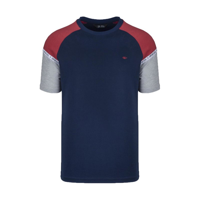 Unfair Athletics Herren T-Shirt Hash Panel navy/red