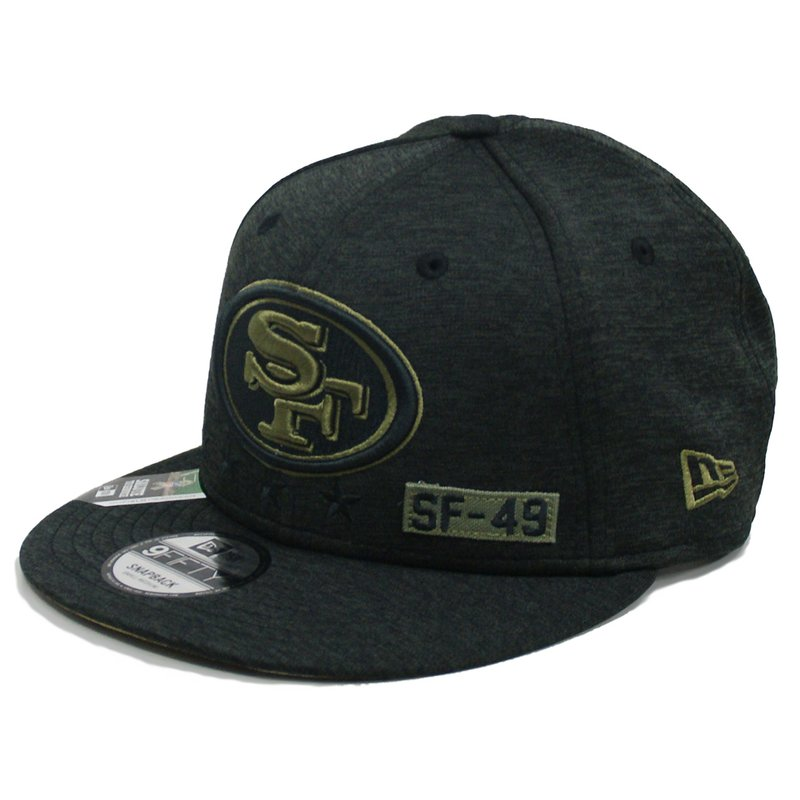 New Era 9FIFTY Cap NFL 20 Salute to Service San Francisco 49ers schwarz