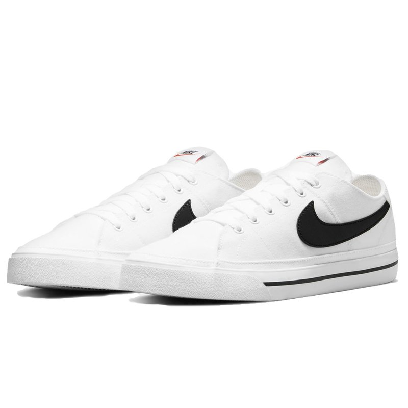 Nike Herren Sneaker Nike Court Legacy Canvas white/black
