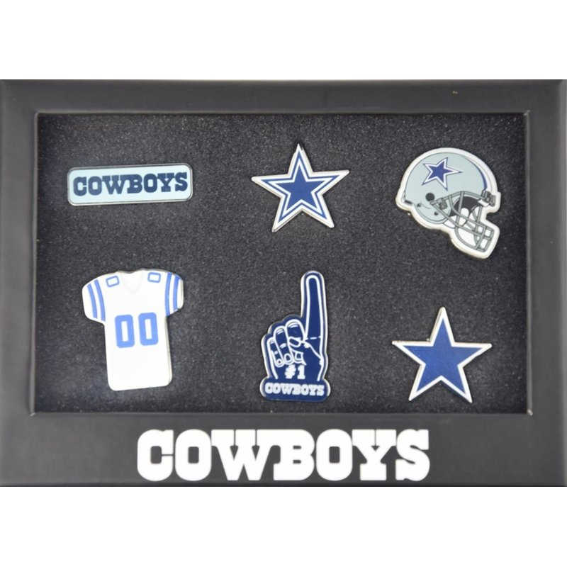 Dallas Cowboys 6 Piece Pin Badge Set | NFL