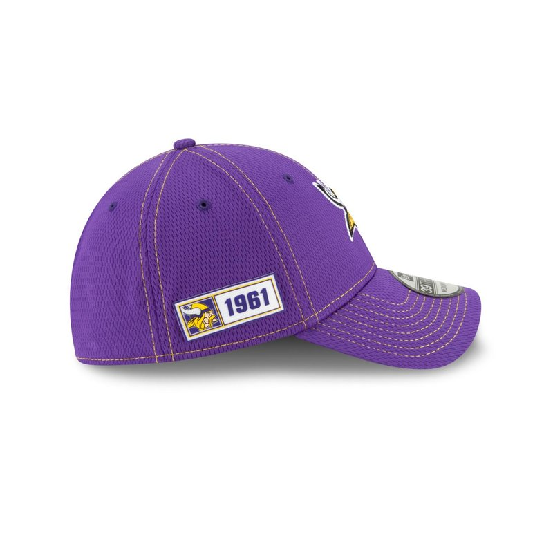 New Era 39THIRTY Stretch Cap Onfield 2019 Sideline Road Minnesota Vikings