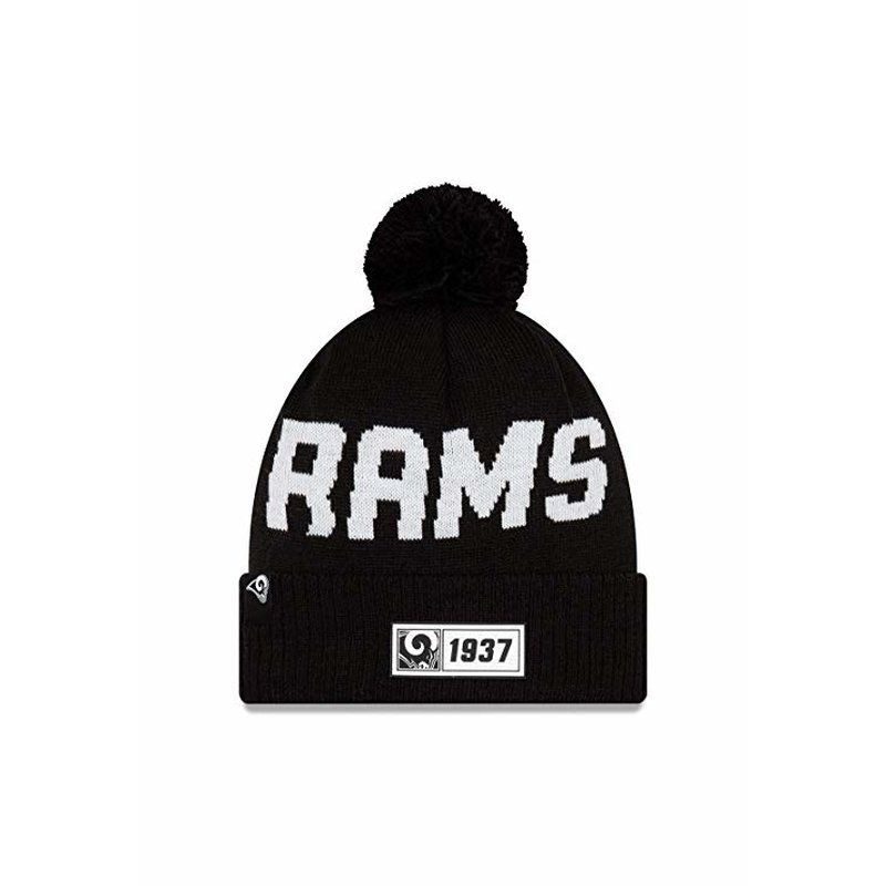 New Era Knit Beanie Onfield 2019 Road Los Angeles Rams schwarz